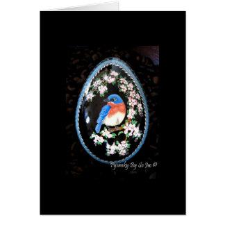 Bluebird in Apple Tree Blank Card