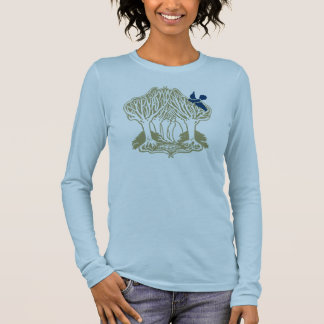Bluebird in the trees. long sleeve T-Shirt