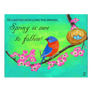 Bluebird Inspirational Post Card