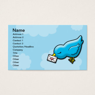 Bluebird keep in touch business card