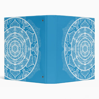 Bluebird Mandala 3 Ring Binder