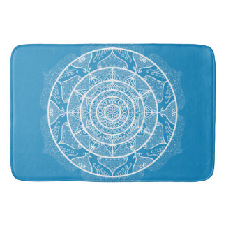 Bluebird Mandala Bath Mat