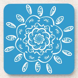 Bluebird Mandala Beverage Coaster