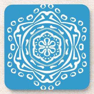 Bluebird Mandala Beverage Coasters
