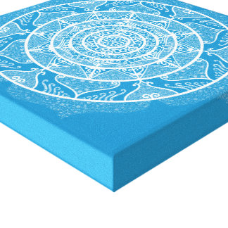 Bluebird Mandala Canvas Print