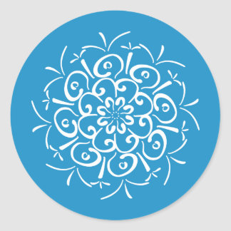 Bluebird Mandala Classic Round Sticker