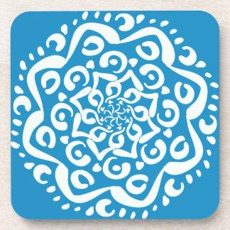 Bluebird Mandala Coasters