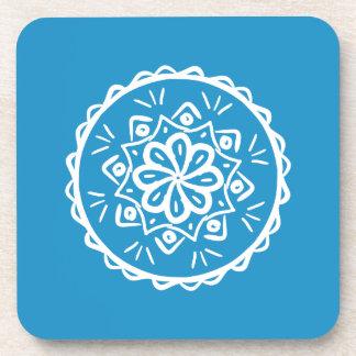 Bluebird Mandala Drink Coaster
