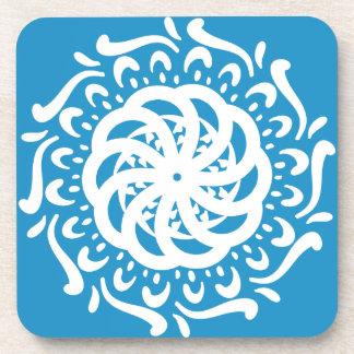 Bluebird Mandala Drink Coasters