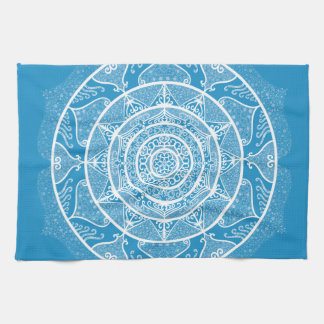 Bluebird Mandala Kitchen Towel