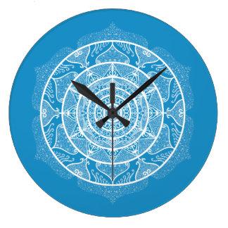 Bluebird Mandala Large Clock