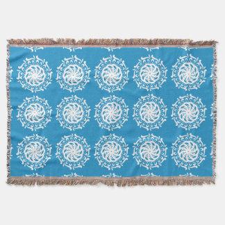 Bluebird Mandala Throw Blanket