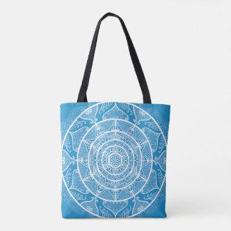 Bluebird Mandala Tote Bag