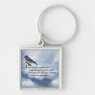 Bluebird Memorial Poem Keychain