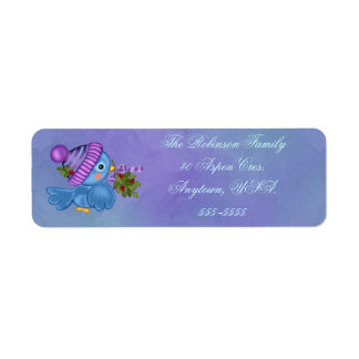 Bluebird & Mistletoe Christmas Address Labels