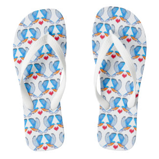 Bluebird of Happiness Adult Flip Flops