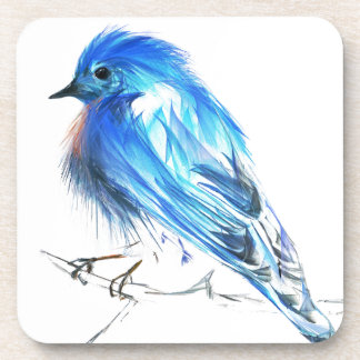Bluebird of happiness beverage coaster