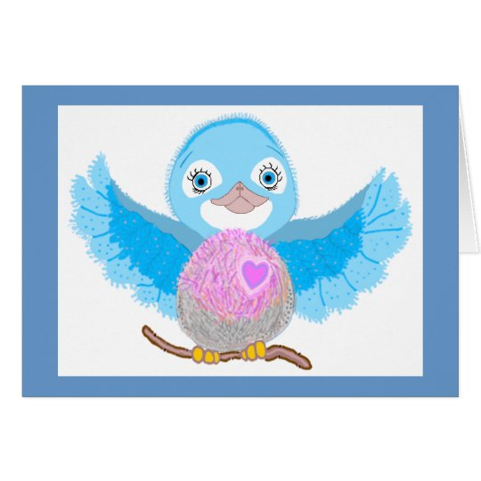 Bluebird of Happiness Card