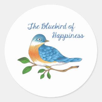 BLUEBIRD OF HAPPINESS CLASSIC ROUND STICKER