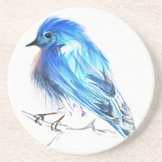 Bluebird of happiness drink coaster