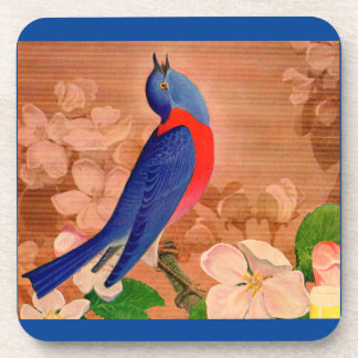 bluebird of happiness drink coasters