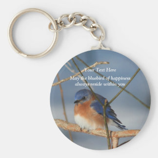 Bluebird Of Happiness Inspirational Keychain