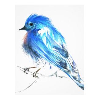 Bluebird of happiness letterhead design
