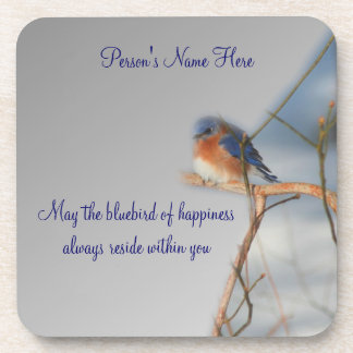 Bluebird Of Happiness Personalized Coaster Set