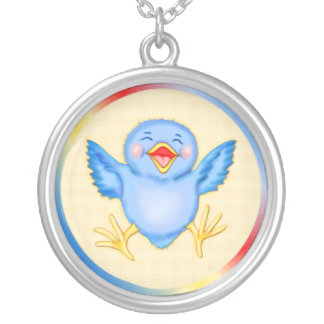 Bluebird of Happiness Silver Plated Necklace