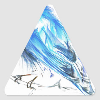 Bluebird of happiness triangle sticker