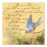Bluebird on a Branch Hugo Quote Personalized Invitations