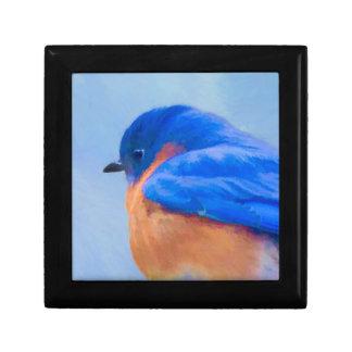 Bluebird Painting - Original Bird Art Gift Box