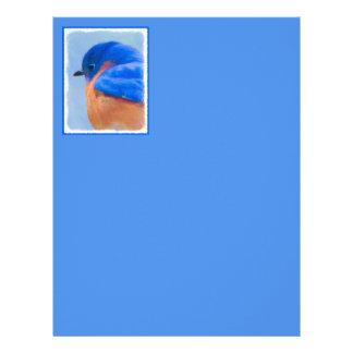Bluebird Painting - Original Bird Art Letterhead