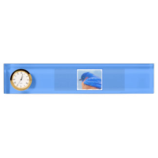 Bluebird Painting - Original Bird Art Nameplate