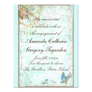 Bluebird & Pink Roses Engagement Announcement