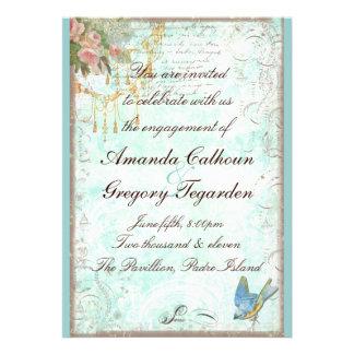 Bluebird Pink Roses Engagement Announcement