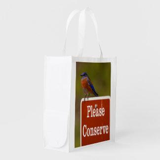 Bluebird, Please Conserve Market Tote