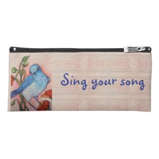 bluebird sing your song pencil case