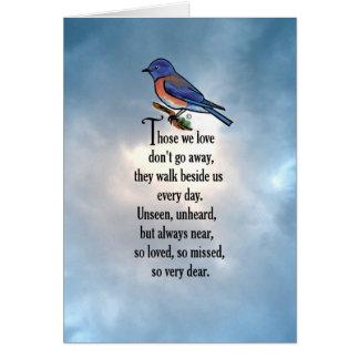 """Bluebird """"So Loved"""" Poem Card"""