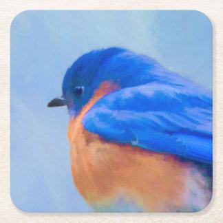 Bluebird Square Paper Coaster