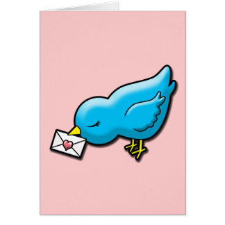 Bluebird with love letter card