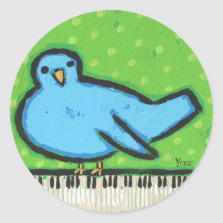 bluebird with piano stickers
