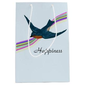 Bluebird with Rainbow, Happiness Medium Gift Bag