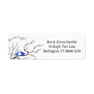 Bluebirds and Branches Custom Address Labels