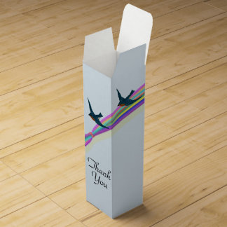 "Bluebirds and Rainbow, ""Thank You"""" Wine Gift Box"
