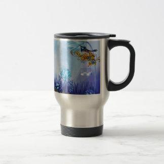 Bluebirds Blue Pond Birds 15 Oz Stainless Steel Travel Mug