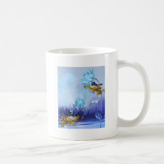 Bluebirds Blue Pond Birds Basic White Mug