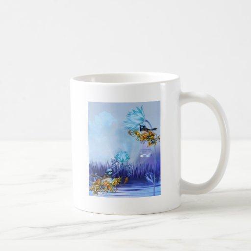 Bluebirds Blue Pond Birds Coffee Mug