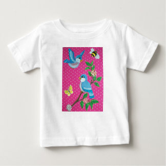 Bluebirds Fairytale Vintage Look T Shirt for Baby