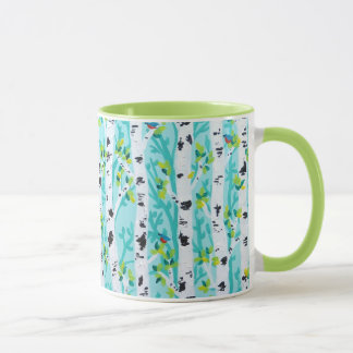 Bluebirds in Spring Birch Tree Forest Mug
